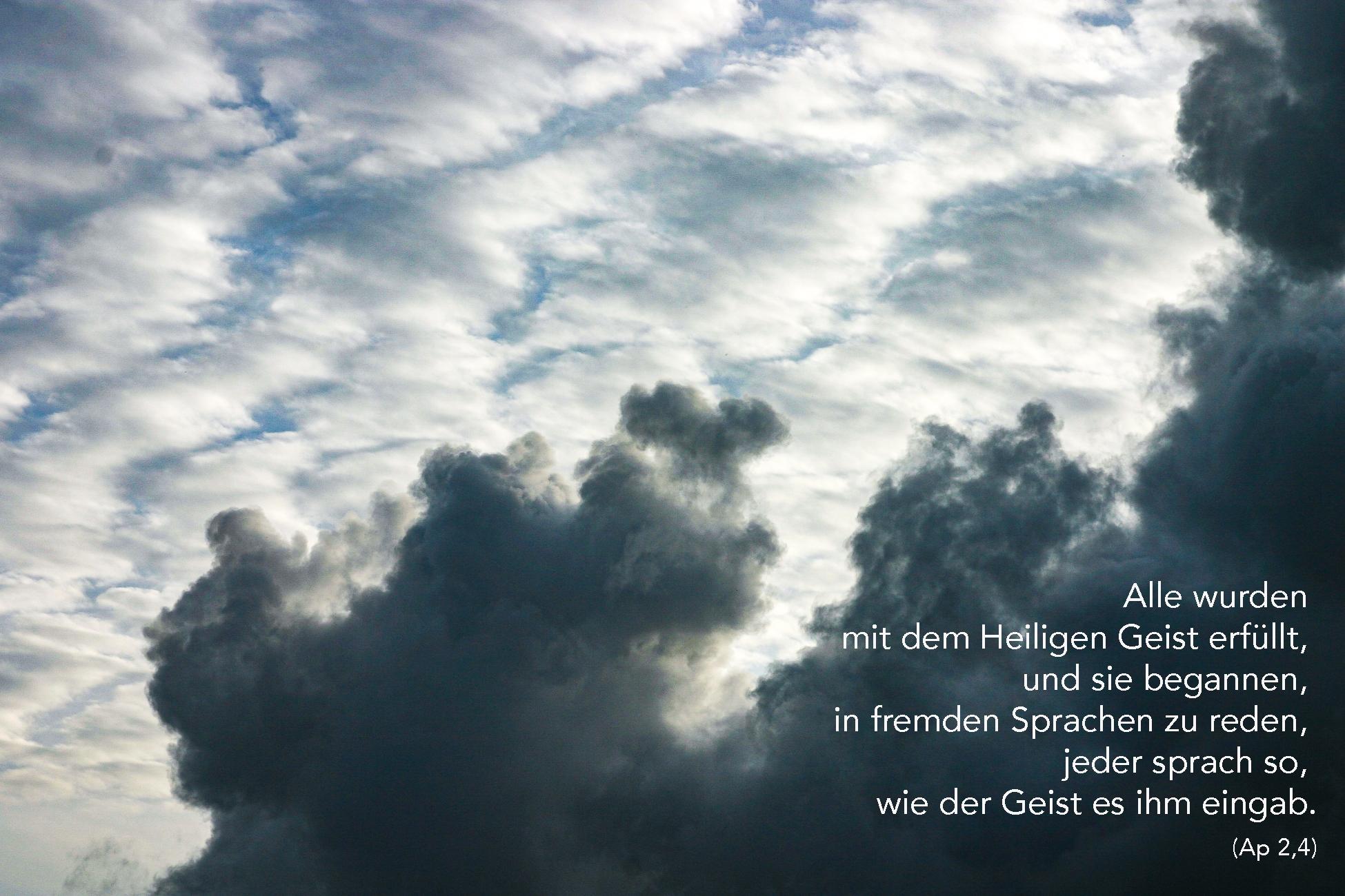 Alle wurden mit dem Heiligen Geist erfüllt (Ap 2,4)
